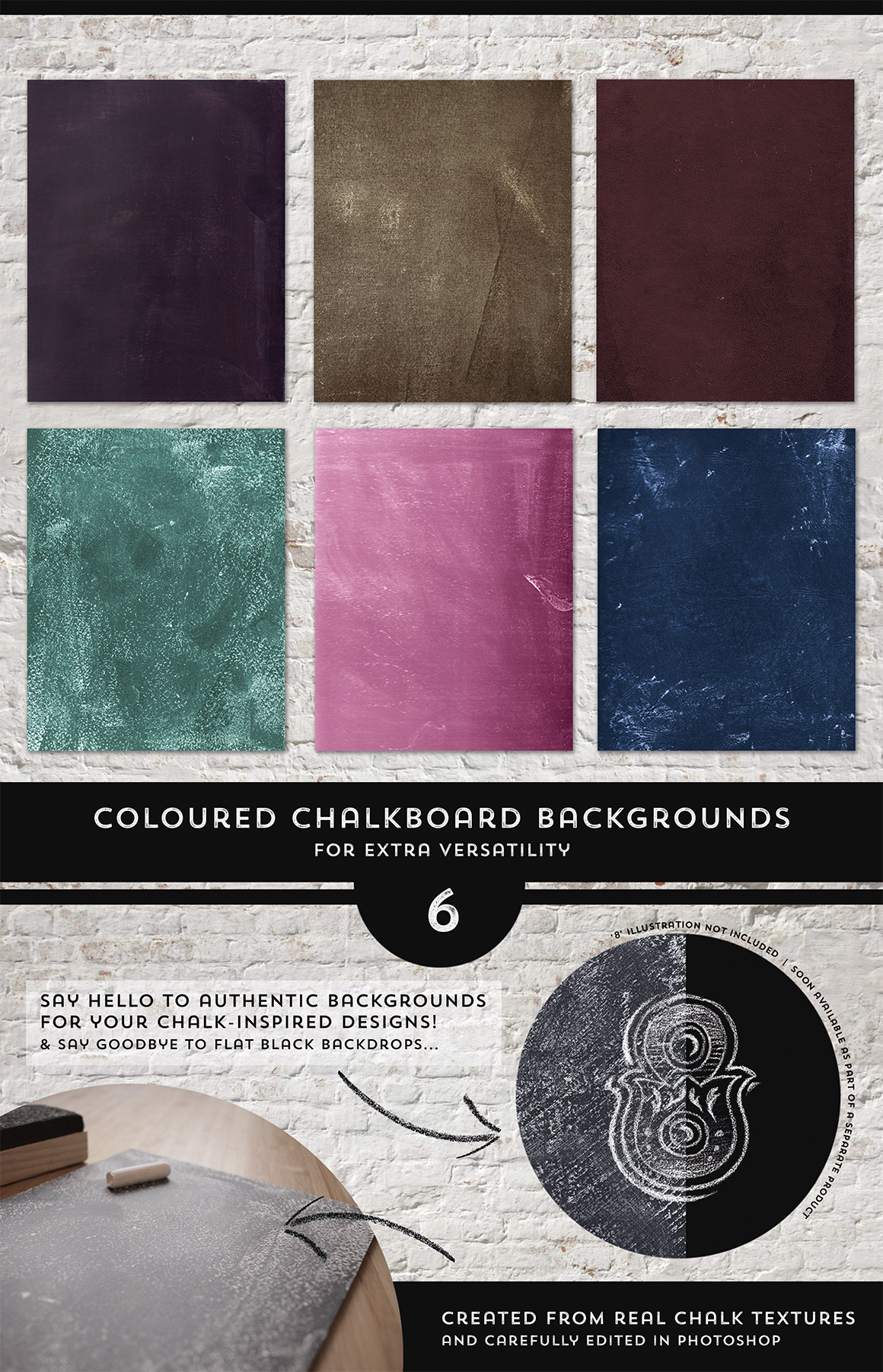 16 Authentic Chalkboard Textures - Vol Two