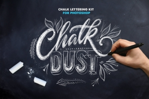 Chalk Dust Brush Kit For Photoshop