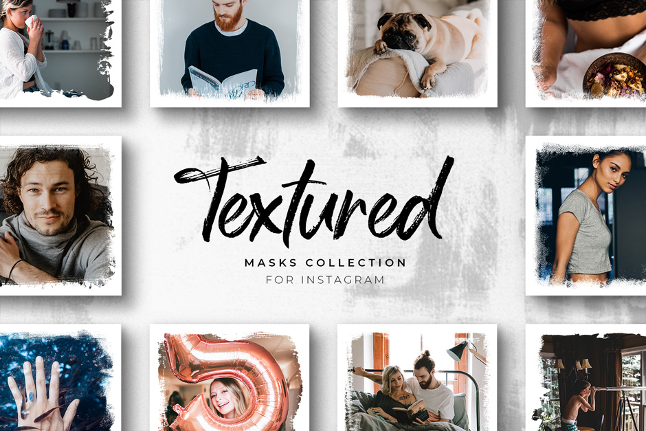 Textured Instagram Masks Collection