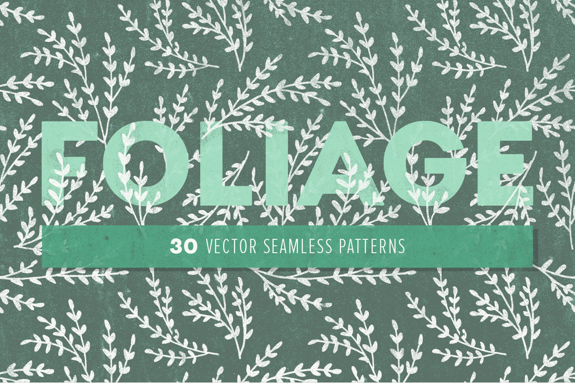 30 Leafy Foliage Patterns