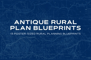 Antique Rural Plan Blueprints