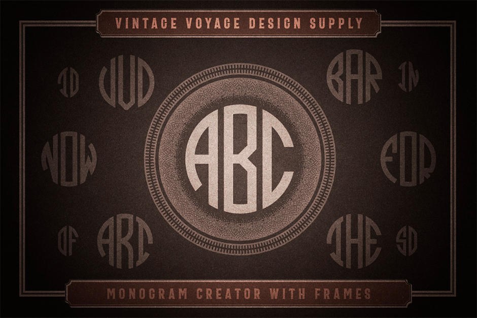 Monogram Creator With Frames