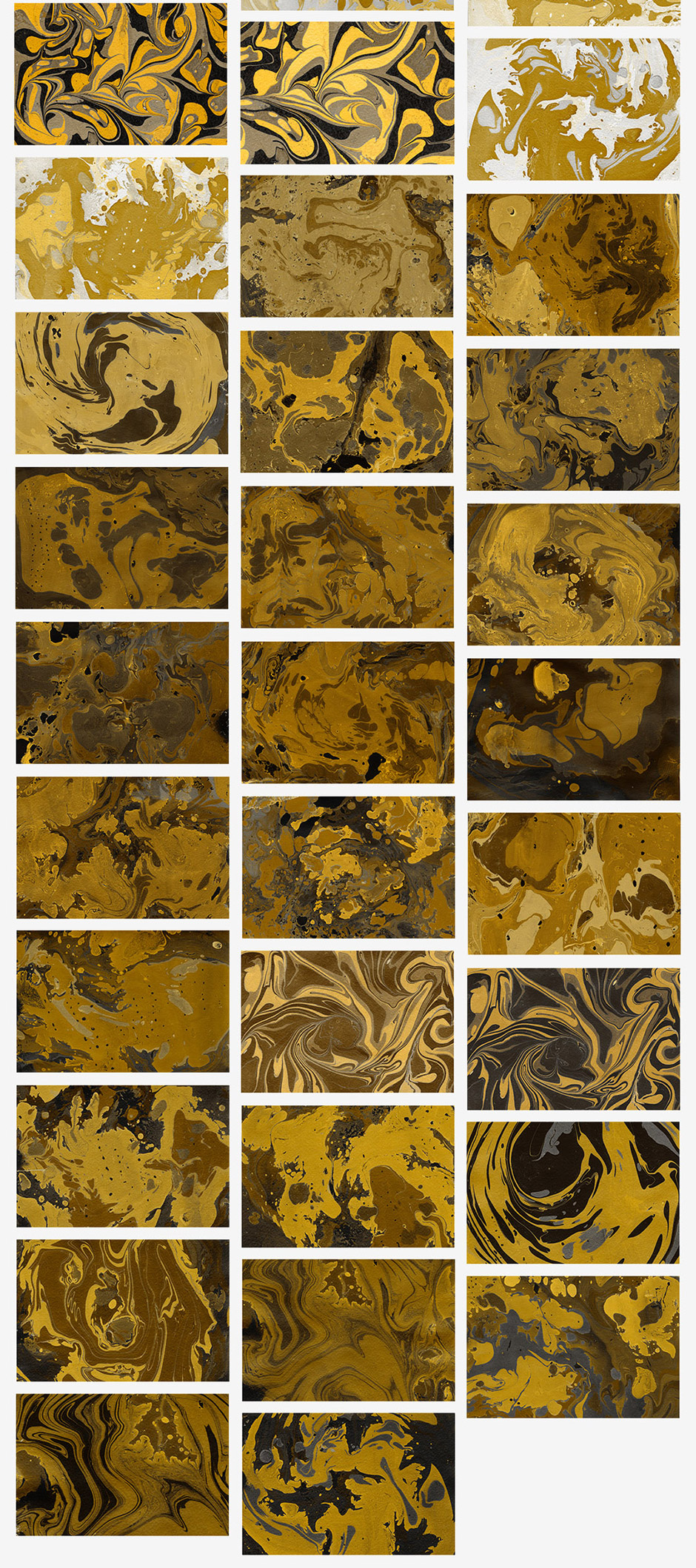 100 Gold Watercolor & Marble Backgrounds
