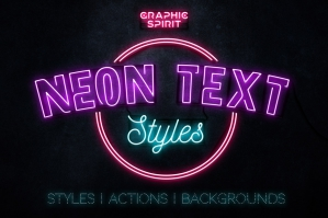 Neon Text Layer Styles & Extras
