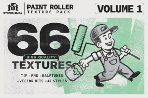 Paint Roller Texture Pack