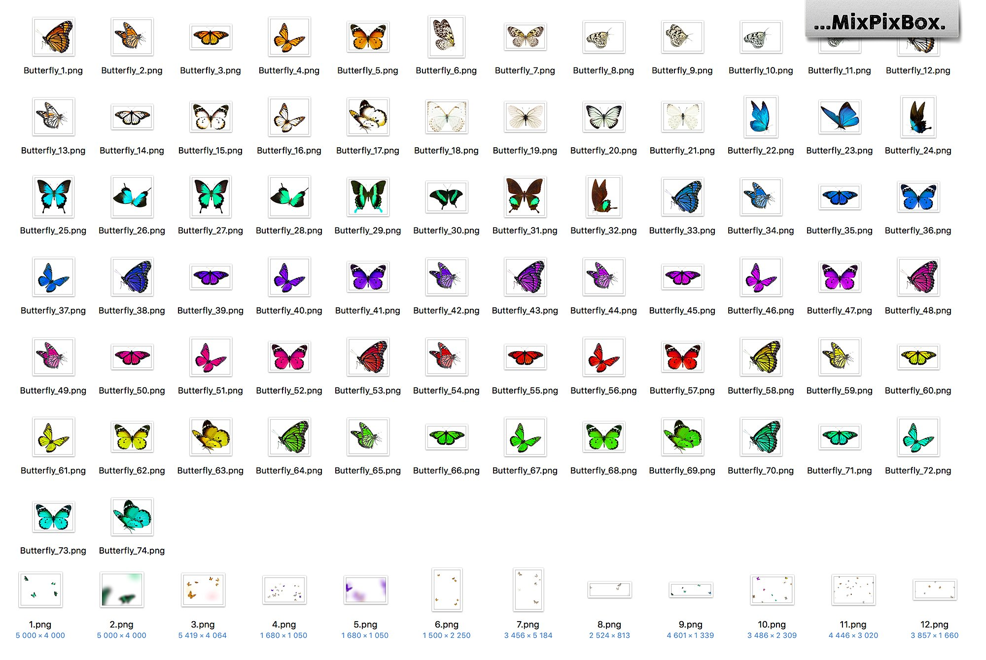 Butterfiles Overlays