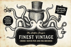 Finest Vintage – Illustrator Brushes
