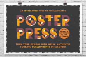 Poster Press Screen Print Creator