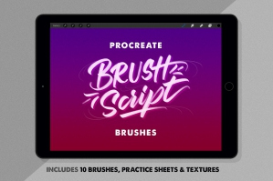 Procreate Brushes & Worksheets