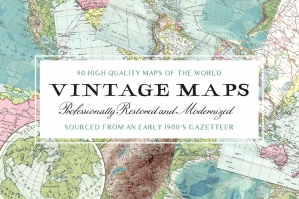 90 Super High-Resolution Vintage Maps Of The World