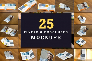 The Flyers Brochures Mockup Pack