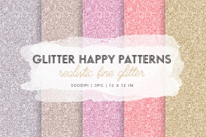 Glitter Happy Pattern Textures