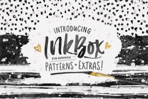 InkBox - 240 Seamless Inky Patterns + 110 Extras!