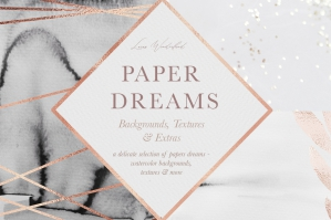 Paper Dreams - Creative Watercolor Texture Set
