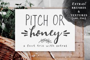 Pitch Or Honey Font Trio & Extras