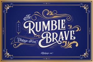 Rumble Brave Vintage Fonts