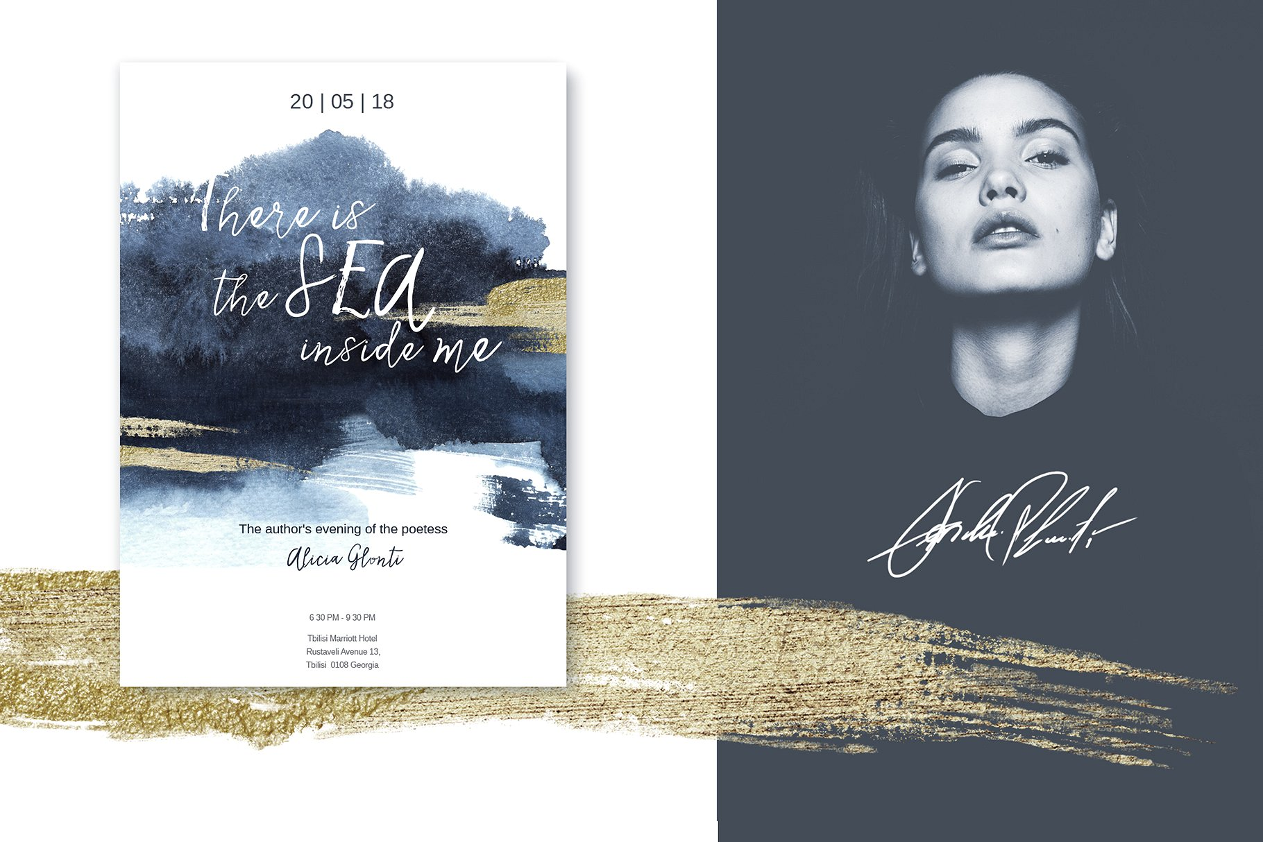 Watercolor Sapphire Textures & Illustrations