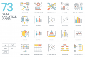 73 Data Analytics Icons