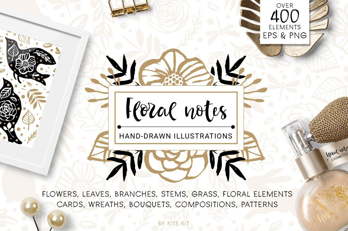 Floral Notes: 400+ Hand-Drawn Nature Elements