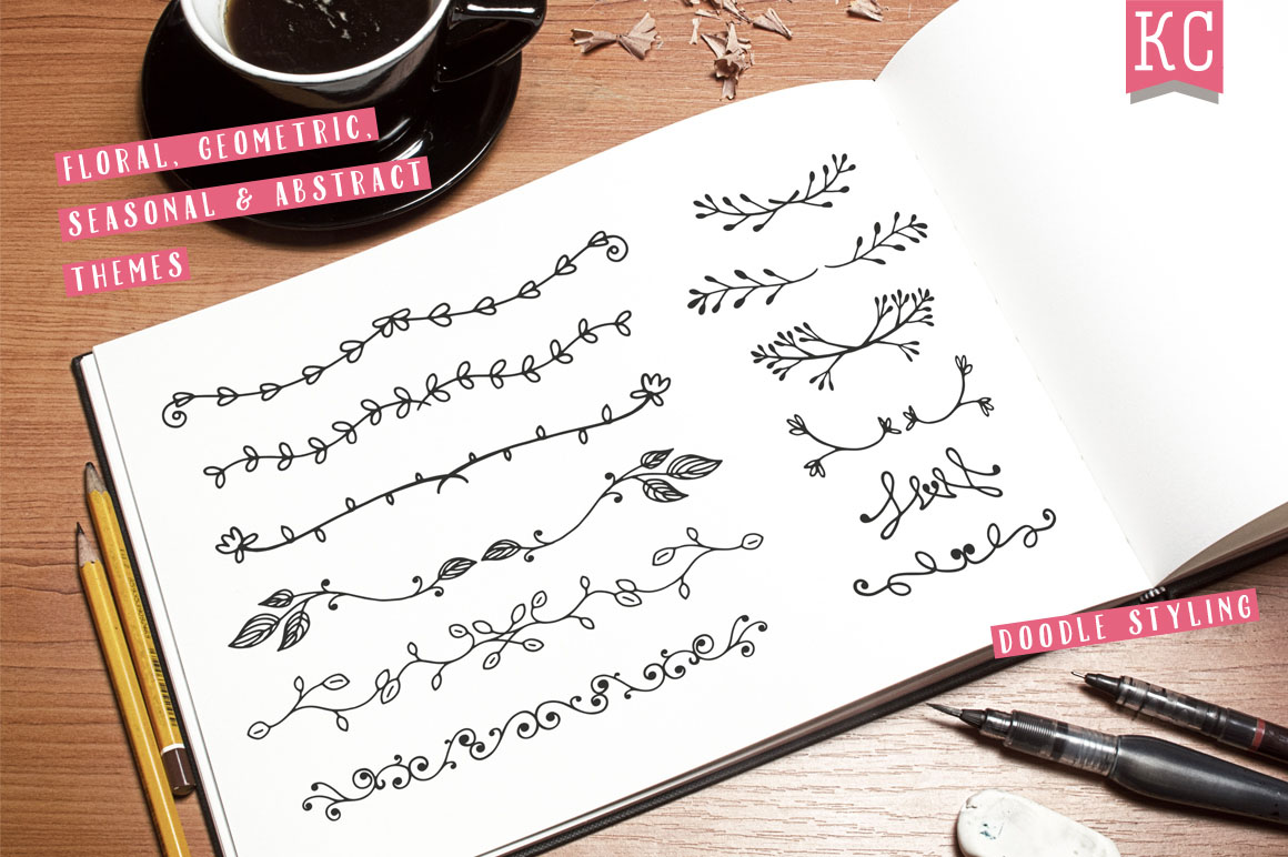 Hand Drawn Vector Doodle Dividers