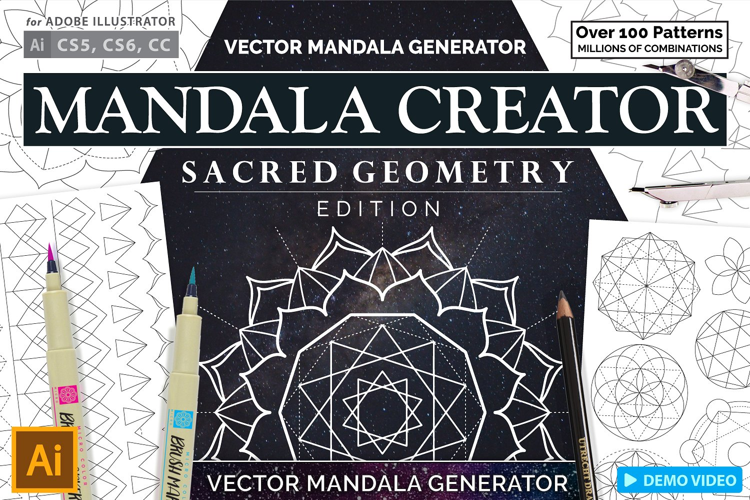 Sacred Geometry Mandala Creator for Illustrator