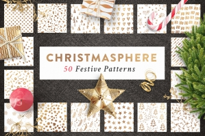 50 Christmas Seamless Patterns + Bonus