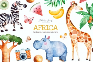 Africa. Watercolor Collection