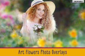 Art Flowers Photo Overlays