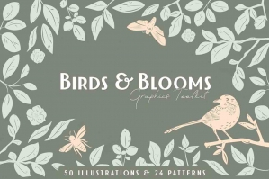 Birds & Blooms Graphics Toolkit