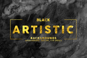 Black Artistic Backgrounds