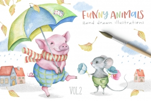 Funny Animals Kit Volume 2
