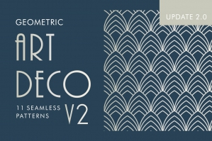 Geometric Art Deco Patterns V2