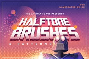 Halftone Brushes & Bonus Patterns