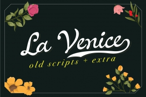 La Venice - Old Scripts Vintage Look