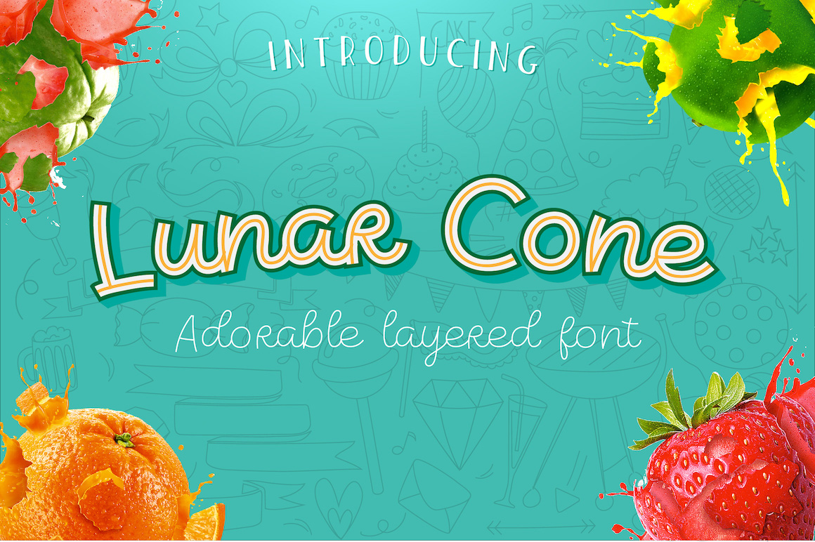 Lunar Cone - Adorable Layered Font