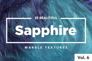 25 Modern Sapphire Marble Textures (Vol. 6)