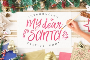 My Dear Santa Christmas Font and Bonus