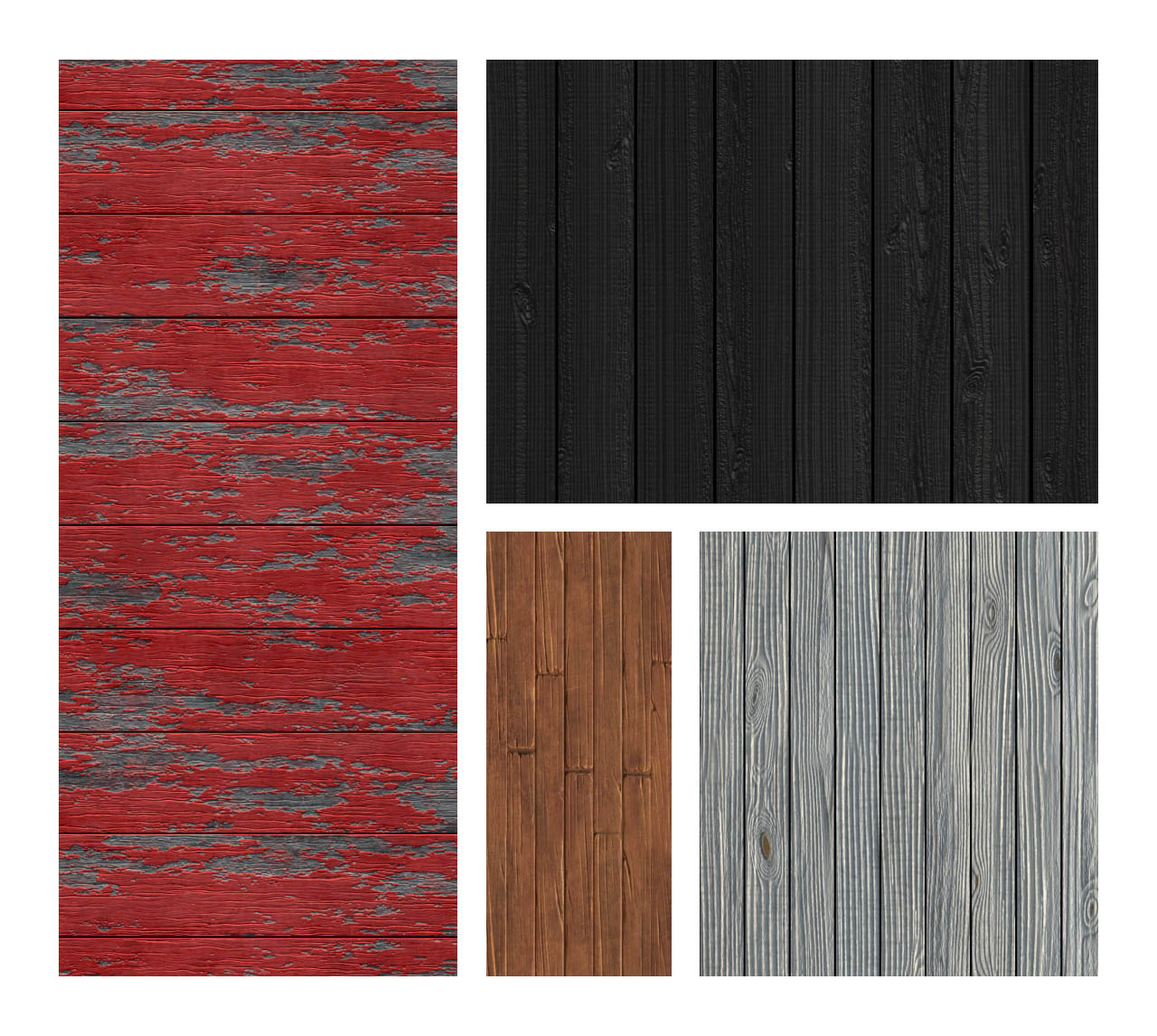 Seamless 3D Wood Patterns & Textures for Photoshop