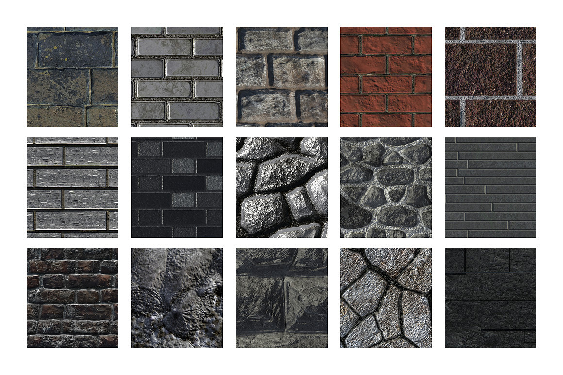 Stone & Brick Patterns for Photoshop