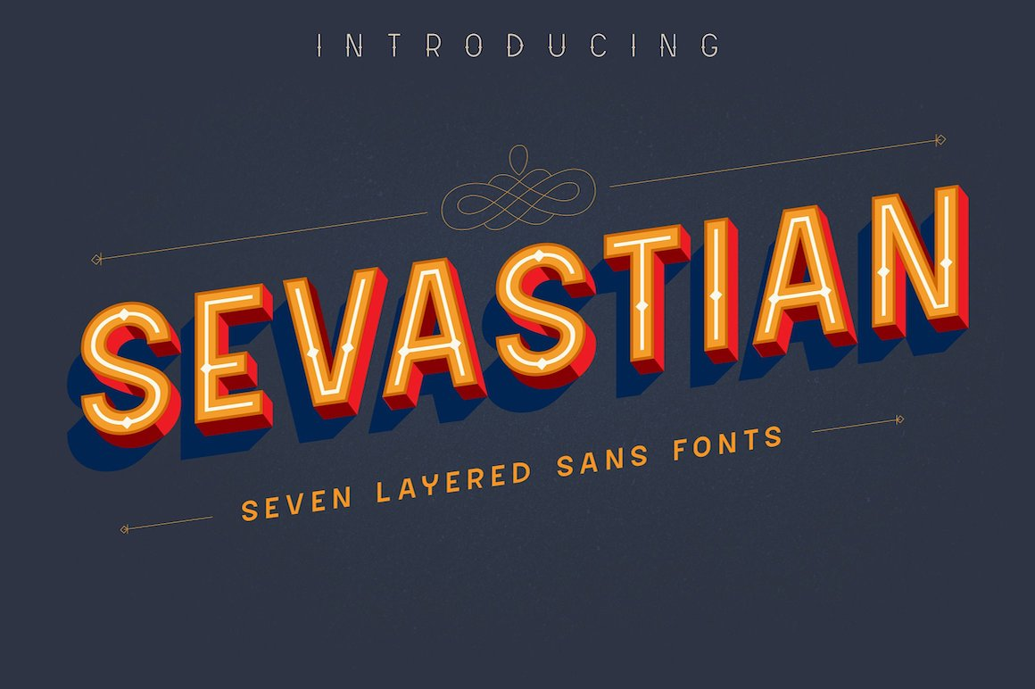 Sevastian Layered Fonts