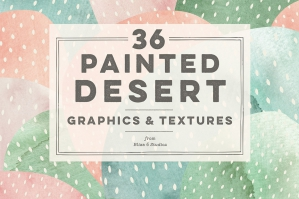 36 Painted Desert & Cactus Graphics