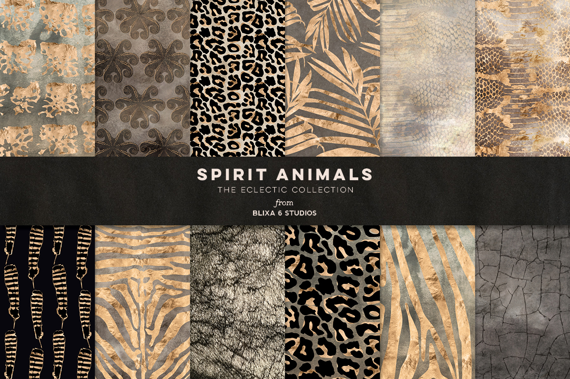 36 Wild Things: Golden Animal Prints