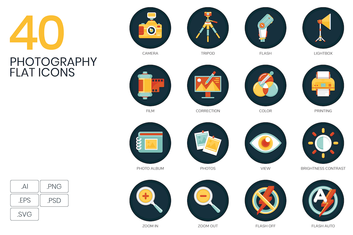 40 Photography Icons width=