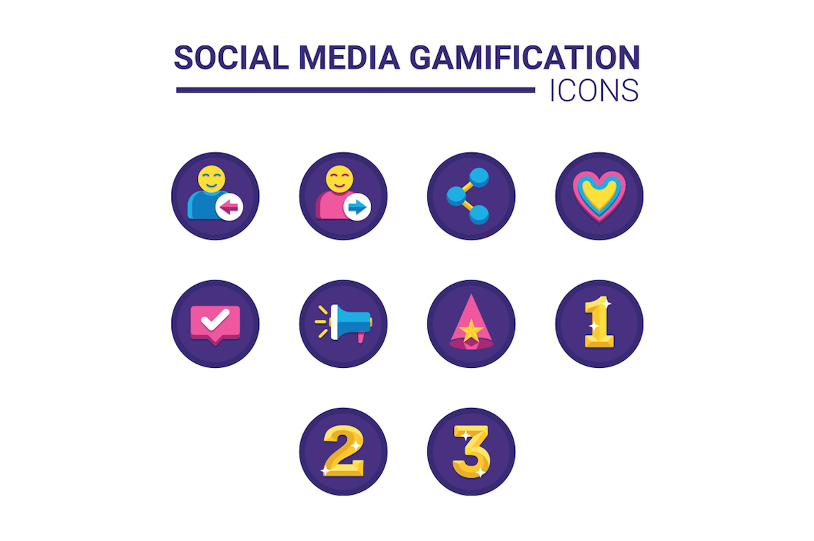 60 Gamification Icons