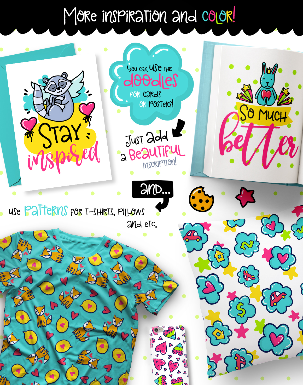 700 Doodles & Patterns - Clipart Set