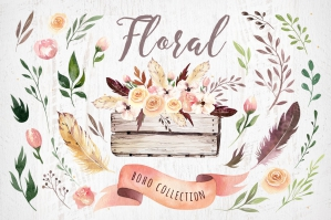 Bohemian Watercolor Collection Vol2