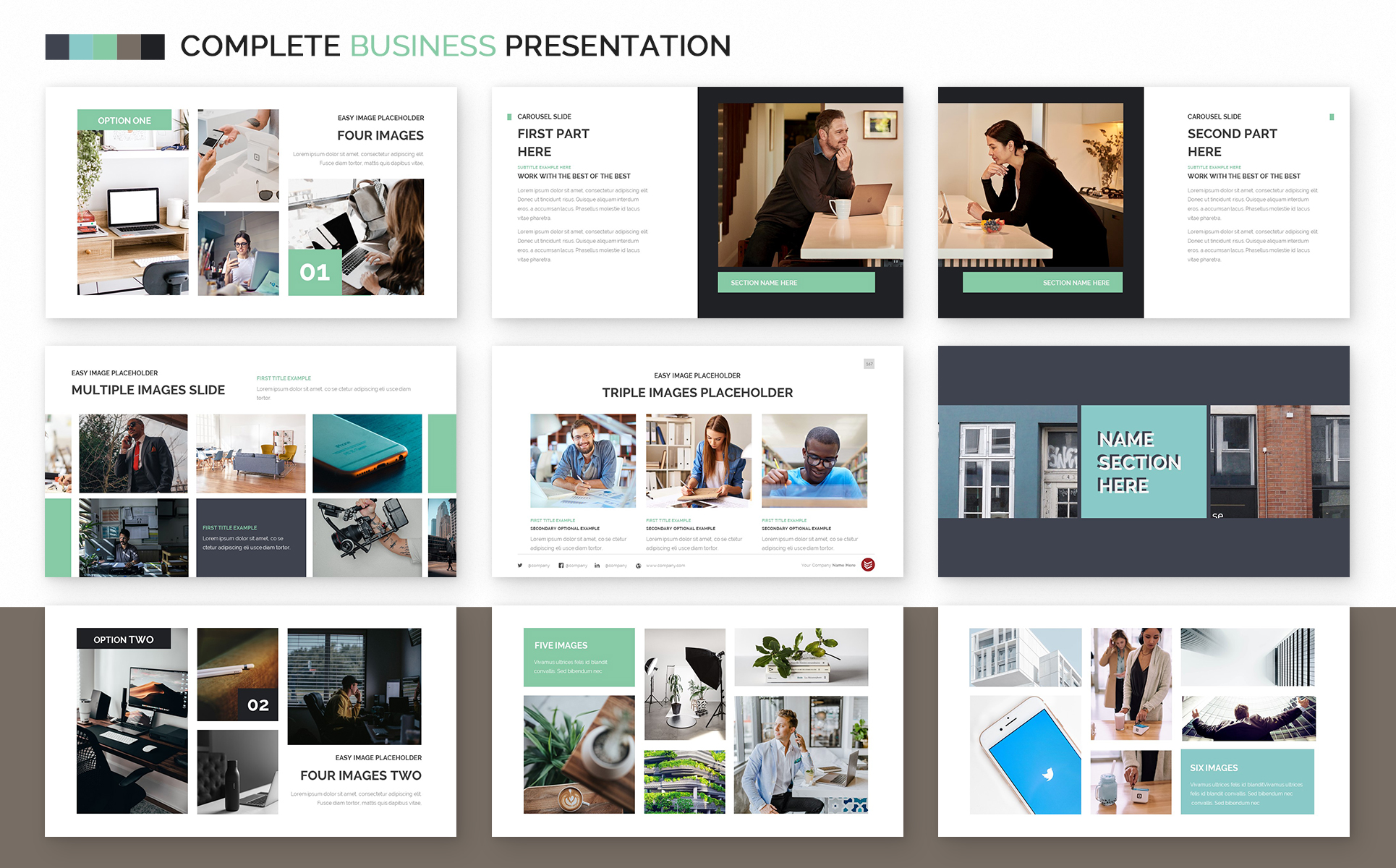 Complete Business Powerpoint Template