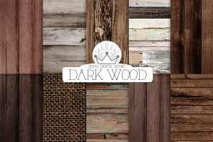 Dark Wood Digital Textures Paper Pack