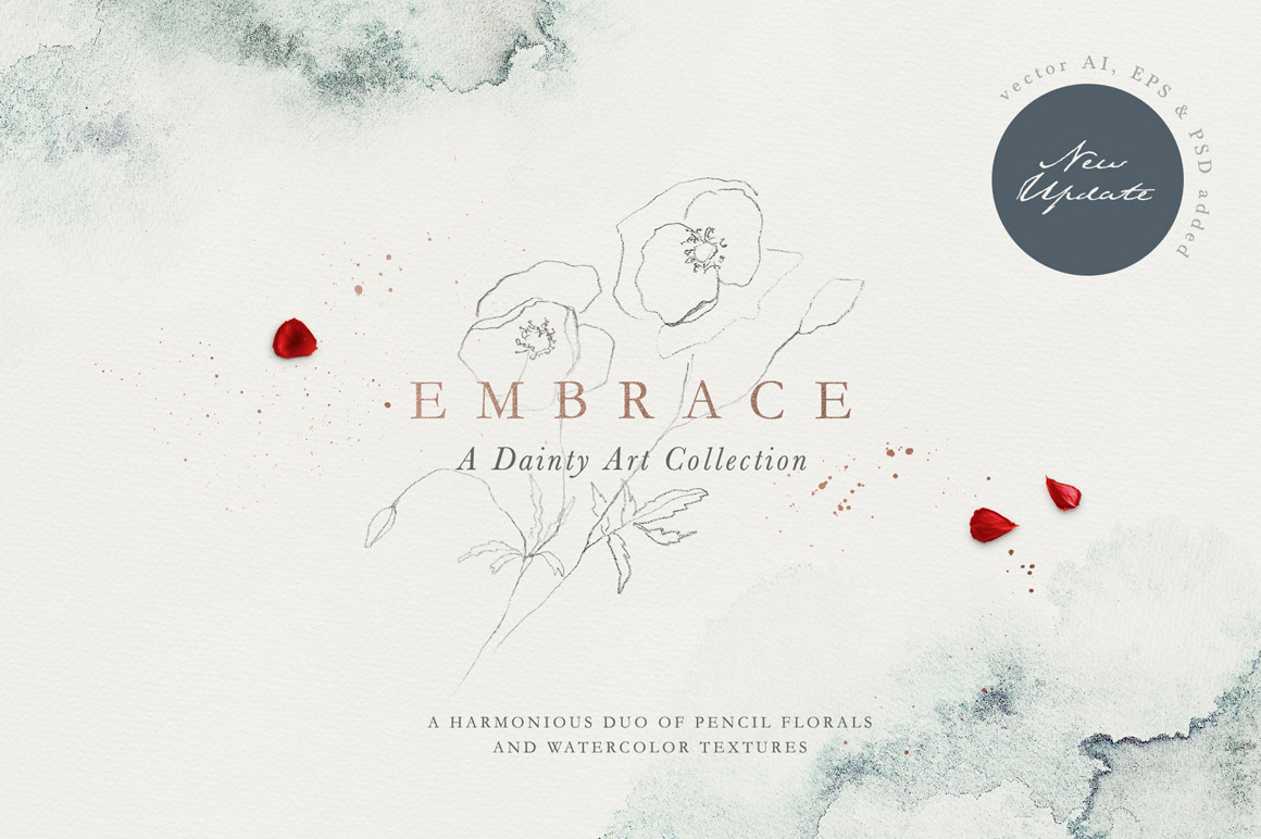 Embrace - Pencil Florals & Textures