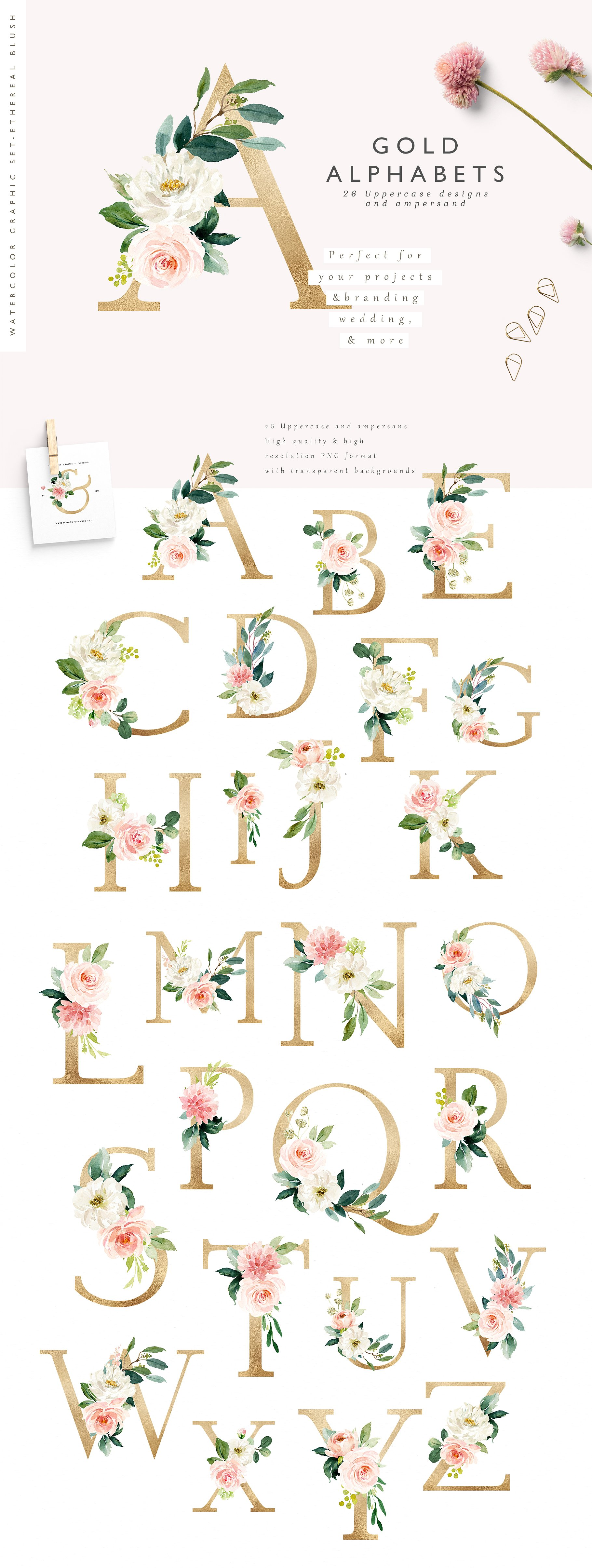 Ethereal Blush - Florals Graphic Set